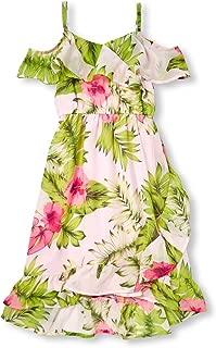 Girls' Big Graphic Ruffle High-Low Maxi Dress