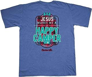 Cherished Girl Women's Happy Camper T-Shirt - Blue -