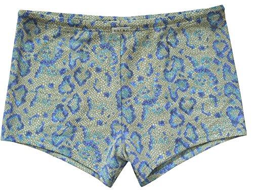 Solar Tan Thru Badehose Panty Khaki/blau, Gr. 5, M