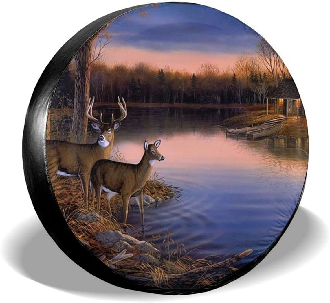 Overseas parallel import regular item Fixed price for sale Artistic Animal Deer Spare Tire Truck for Covers Wheel Protector