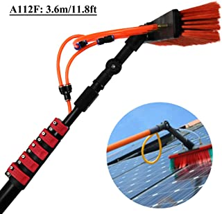 Extension Pole Window Water Brush Kit, Telescopic Pole for Window Cleaning, Household Outdoor Glass Solar Panel Swimming Pool Cleaning Tool 3.6m/11.8ft