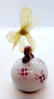 Pallina Natalizia Albero Ceramica Handmade Le Ceramiche del Castello Made In Italy Dimensioni 6 x 5 cm.