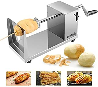 Stainless Steel Potato Cutter Twisted Potato Slicer Potato Twister Spiral Potato Cutter Stainless Steel Slicer Machine For...