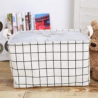 Boîte de rangement Coton Lin Jouet Boîte De Rangement Panier De Rangement Tissu Vêtements Étanche Pliant Maison Poutre Bou...