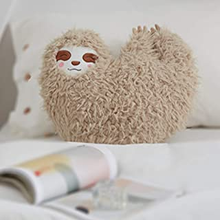Changsun Cute Jungle Sloth Toys Home Decorative Toys Cushion Throw Pillow Girls Gifts Plush Sloth Pillow Toys (Grey with Pink)