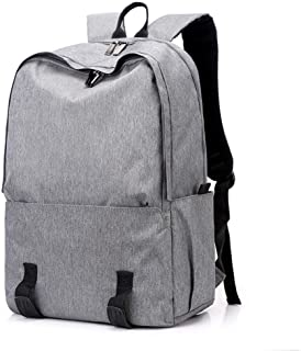 Arder Unisex Bags Polyester Commuter Backpack Zipper Solid Color Blue/Black/Gray Leisure Travel Backpack Polyester Bag Relaxed (Color : Gray)