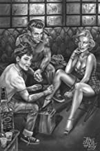 Scorpio Posters Audrey Marilyn Dean Tats Poster by James Danger Harvey 24 x 36in
