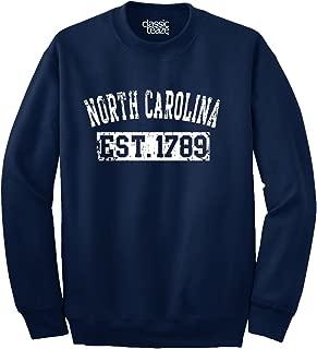 North Carolina Est 1789 NC Sports Souvenir Crewneck Sweatshirt