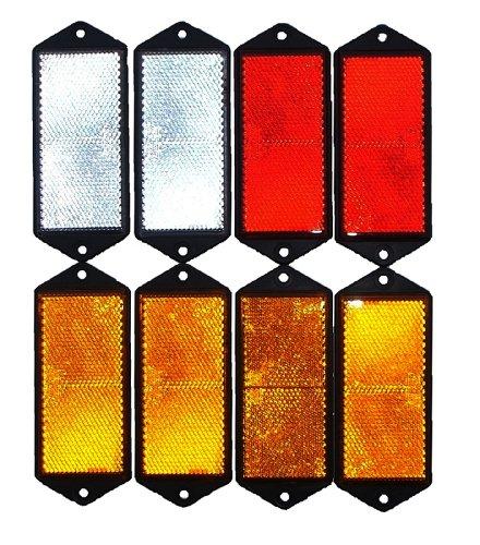 leisure MART LMX1625 Reflektoren, Set aus Rot, Weiß und Bernstein
