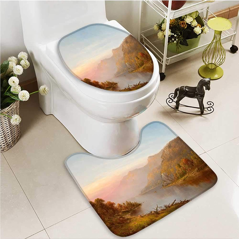Printsonne Cushion Non-Slip Toilet Mat Master's Landscape Painting Soft Non-Slip Water