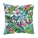 VJGOAL impresión de la Planta de Moda Suave cómodo Funda de Almohada sofá Coche Cuadrado Funda de cojín decoración para el hogar(45_x_45_cm,G)