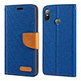 HTC U12 Life Case, Oxford Leather Wallet Case with Soft TPU