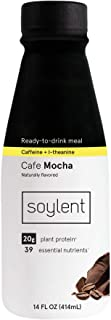 Cafe MochaSoylent Meal Replacement Shake,Cafe Mocha (aka, Coffiest), Complete Meal in a Bottle, 20g Plant Protein, 14 oz...