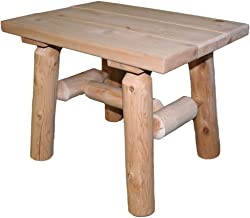 product image for Lakeland Mills Cedar Log End Table, Natural