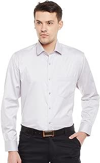 Lamode Men's Solid Silver Grey Formal Shirt979