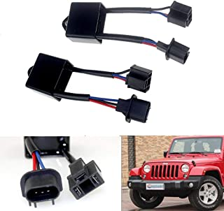 H4 To H13 Anti-Flicker Decoder Kit for 7inch Jeep Wrangler Round LED Headlight