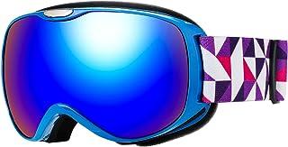 Issyzone Gafas Esquí Nieve Antiniebla con Protección UV409 para Snowboard Doble Lentes Esférico