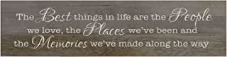 LifeSong Milestones The Best Things in Life are The People, Decorative Wall Art Decor Sign for Living Room, Entryway, Kitchen, Bedroom,Office, Wedding Idea, Barnwood , 10x40