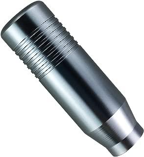 Abfer Manual Gear Shift Knob Car Shifting Stick Short Shifter Knobs Aluminum Fit Universal Automatic MT Transmission (Gray)
