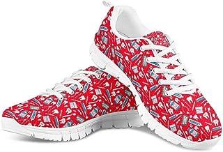Chaqlin - Scarpe da ginnastica da donna, leggere, traspiranti, per palestra, fitness, attività all'aria aperta, jogging