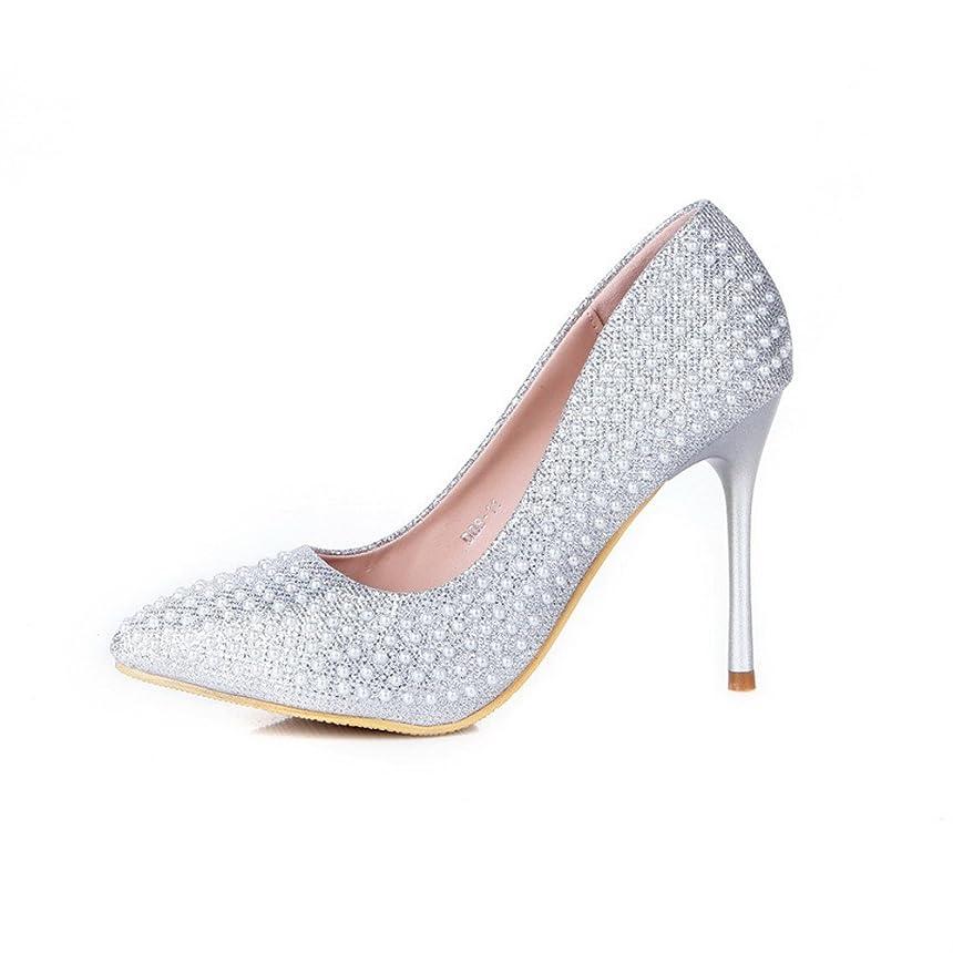 隔離浸したまっすぐ[オールエイチキューファッション] 女性用 スパンコール ガラスのダイヤモンド パンプスシューズ