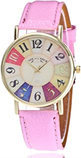Watches for Women, Ladies Colorful Number Fashion Analog Watches Casual Wrist Watch