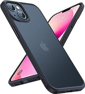 TORRAS Stoßfest Hülle für iPhone 13 Hülle (Echter Militärischer Schutz) Schutzhülle Matt Anti-Kratzen Hard PC Back und Sof...