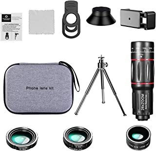 Homyl Kit Lente Da Câmera do telefone, 28X Telefoto Lens + Lente + 0.6X 20X Lente Grande Angular + Lente Olho de Peixe de ...