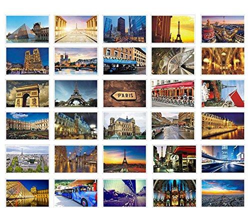 30 PCS Künstlerische Retro Postkarten Schöne Welt Reise Landschaft-Paris