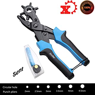 Heavy Duty Metal Hole Punch Pliers Rotary Hole Punch for Leather Belt ,Fabric, Plastic,Paper
