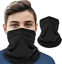 Neck Gaiter Bandanas Face Mask Unisex,Cooling Cycling Half Face Mask Motorcycle Headwear Neck,UV Protection Breathable Face Scarf for Motorcycling Cycling Hiking Camping Climbing Fishing (Black)