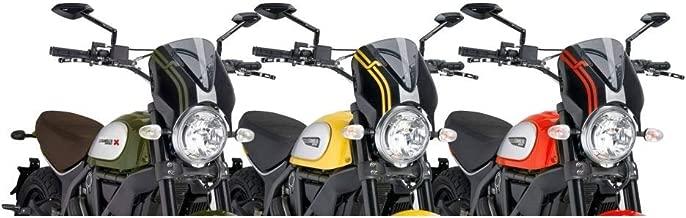 Puig 15-19 Ducati SCRAMFUL RetroVision Windscreen (Black/Smoke)