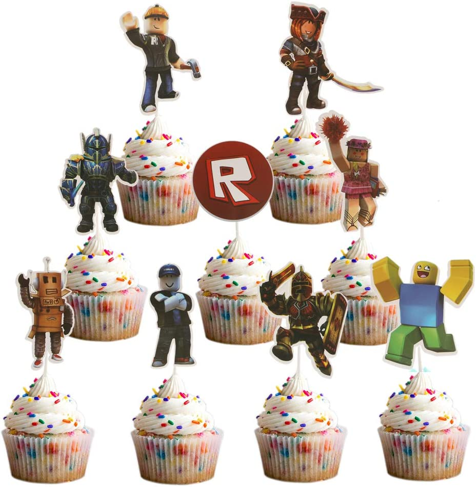27PCS Sandbox Direct store game Cupcake Toppers For Party Decor Birthday specialty shop Cake