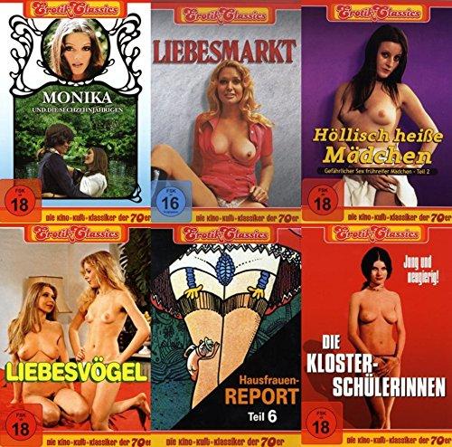 Sexy Classic EROTIK KULTFILME COLLECTION Monika und die Sechzehnjährigen * Liebesmarkt * Höllisch heiße Mädchen * Liebesvögel * Hausfrauenreport 6 * Die Klosterschülerinnen * 6 DVD Edition