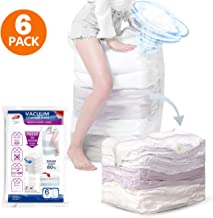 TAILI Jumbo Cube Vacuum Storage Bags, Extra Large Compressed Space Saver Bags 6 Pack 31x 40x15, No Need Pumps for Travel, Space Bags for Seasonal Clothes, Comforters, Towels, Pillow, Bedding, Blanket
