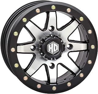STI HD9 Beadlock ATV/UTV Wheels - Matte Black/Machined / 14x10 4/156 5+5