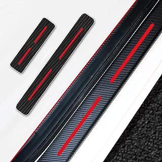 4Pcs For Hyundai Kona 2018 Car Door Sill Door Entry Guard Car Door Entry Protectors 4D Carbon Fiber Vinyl Sticker Auto Accessories Car-Styling