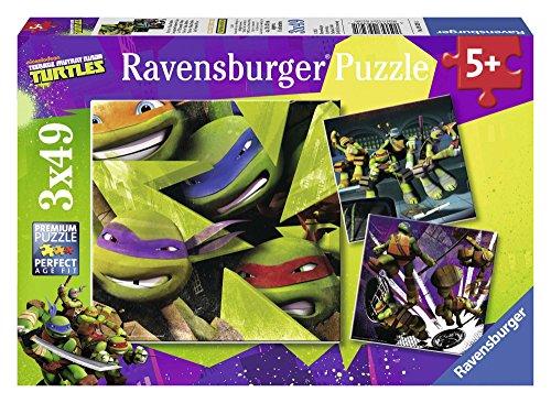 Ravensburger Tortugas Ninja - Puzzle, 3 x 49 Piezas 09328 1
