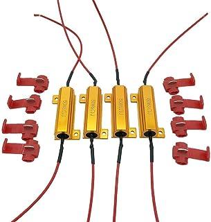 4Pcs Aaron 50W 6ohm Load Resistors - Fix LED Bulb Fast Hyper Flash Turn Signal Blink Error Code (Resistors get very hot during working)