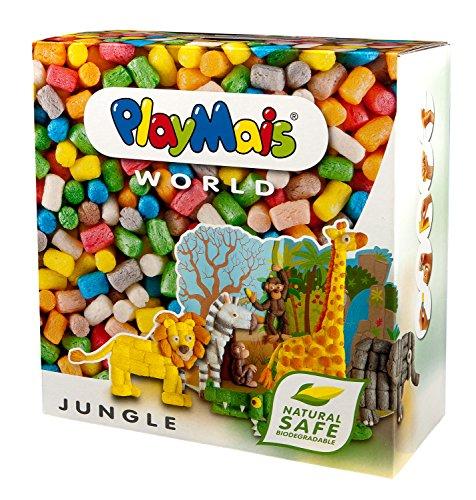 PlayMais WORLD Jungle Bastel-Set für Kinder ab 3 Jahren | Circa 1.000 Stück, Vorlagen & Anleitungen zum Basteln | Geschenke für Kinder | Fördert Kreativität & Feinmotorik | Natürliches Spielzeug