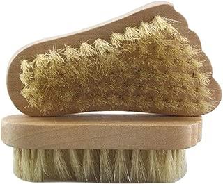 Maltose フットブラシ 豚毛 フットグルーマー 足ブラシ 足の裏ブラシ 足爪ブラシ 角質除去 2個セット