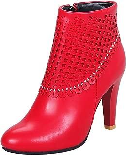 BIGABIGA Women Elegant Ankle High Boots Stiletto