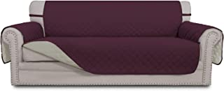 Best Easy-Going Sofa Slipcover Reversible Sofa Cover Water Resistant Couch Cover Furniture Protector with Elastic Straps for Pets Kids Children Dog Cat(Sofa, Wine/Beige) Reviews