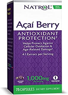 Natrol, Acai Berry, 1,000 mg, 75 Veggie Caps