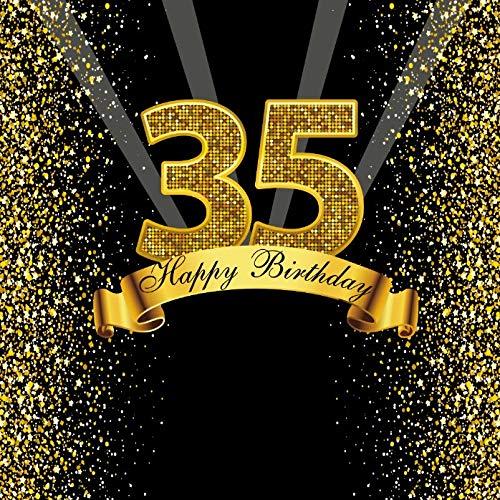 Joyeux Doux 18 25 30 40 50 55e Anniversaire fête Or Dot fête bannière Photo Fond Photo téléphone Photo Toile de Fond Photo A11 2.1x1.5m