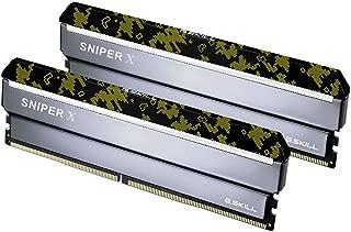 G.SKILL 32GB (2 x 16GB) Sniper X 系列 DDR4 PC4-28800 3600MHz 台式机内存型号 F4-3600C19D-32GSXKB