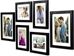 Art Street -Photo Frame Set Black Chief 6 Pcs (Photo Size 8x10 Inches - 2 Units, 6x8 inches 4 Units. (Free Hanging Accesso...