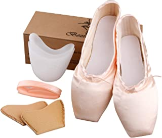 New Pink Ballet Dance Toe Shoes Professional Ladies Satin Pointe Shoes
