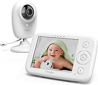 "Simyke Video Baby Monitor with Camera and Audio 3.5"" LCD Digital Display with Long Range Night Vision Temperature Monitori..."