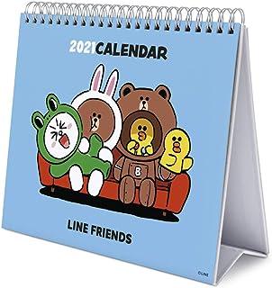 Grupo Erik Calendario da Tavolo 2021 Line Friends, calendario da scrivania 2021, 20 x 18 cm